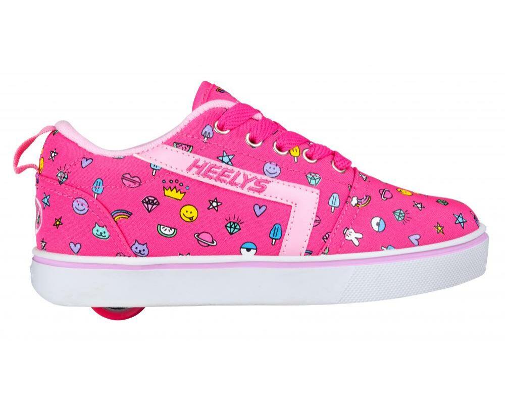 1d5c9c44379b Heelys GR8 Pro Prints hot pink/light pink/emoji - Gurulós cipők