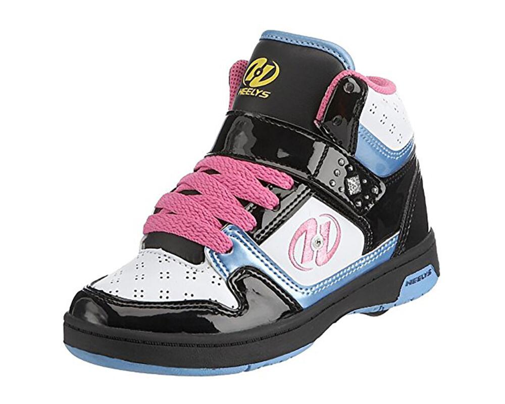 Heelys Brooklyn Hi white black pink blue - Gurulós cipők 02957064e3