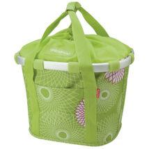 Klickfix Bikebasket, crystals lime green első kosár