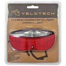 Velotech 3 LED-es hátsó lámpa, csomagtartóra