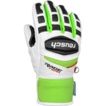 Reusch Race R-TEX XT Junior gloves, white/neon green síkesztyű