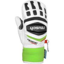 Reusch Race R-TEX XT Junior Mitten gloves, white/neon green