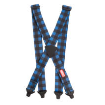 Chums Suspenders LTD, blue plaid nadrágtartó kantár