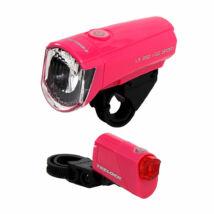 Trelock LS 350 + LS 710 pink lámpa szett