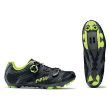 Northwave Scorpius 2 Plus, fekete military/sárga fluo kerékpáros cipő