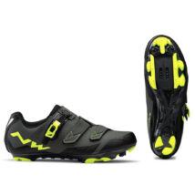 Northwave Scream 2 SRS, fekete/szürke/sárga fluo kerékpáros cipő