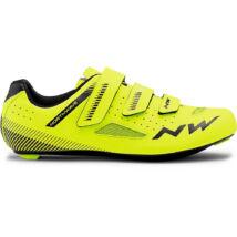 Northwave Core, sárga fluo/fekete kerékpáros cipő