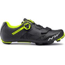 Northwave Razer, fekete/sárga fluo kerékpáros cipő