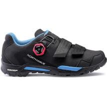 Northwave Outcross 2 Plus wmn, fekete/aqua (türkiz) kerékpáros cipő