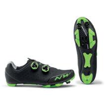 Northwave Rebel 2, fekete/zöld kerékpáros cipő