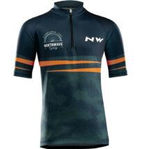 Northwave Origin Junior, kék/narancs rövid mez