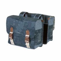 Basil Boheme double bag, indigó kék csomagtartó táska