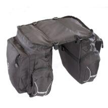 Gepida 2 részes fekete csomagtartó táska