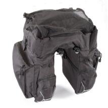 Gepida 3 részes fekete csomagtartó táska