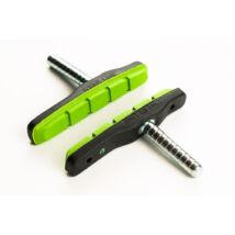Bikefun 72 mm csapos, fekete/zöld fékbetét