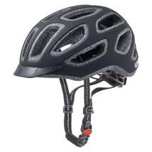 Uvex City e, black mat kerékpár sisak