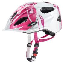 Uvex Quatro junior, pink-silver kerékpár sisak