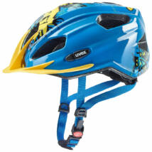 Uvex Quatro junior, blue-yellow kerékpár sisak