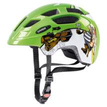 Uvex Finale junior, green pirate kerékpár sisak
