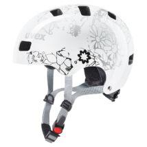 Uvex Kid 3, white flower kerékpár sisak