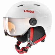 Uvex Junior visor pro, white-red mat sísisak