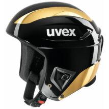 Uvex Race+, black-gold chrome sísisak