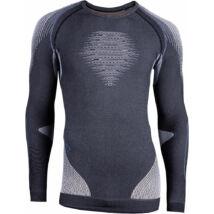 UYN Man Evolutyon UW Shirt LG SL Melange, anthracite melange-nude-avio aláöltöző felső