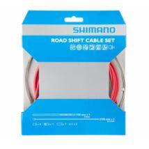 Shimano váltó bowden szett, optislick bevonatú, országúti, piros