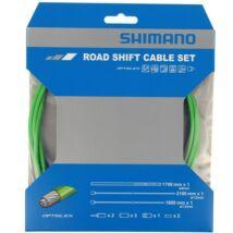 Shimano váltó bowden szett, optislick bevonatú, országúti, zöld