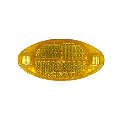 Prizma küllőbe fémbetétes, sárga