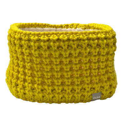 Calze GM Merino Fleece Headband, yellow fejpánt
