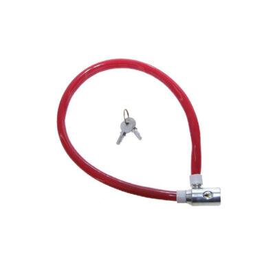 M-Wave 60 cm kábelzár, piros