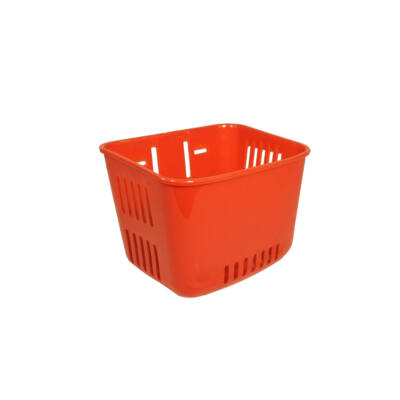 Műanyag, gyerek piros első kosár