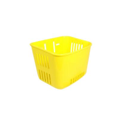 Műanyag, gyerek sárga első kosár