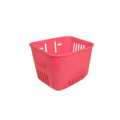 Műanyag, gyerek pink első kosár