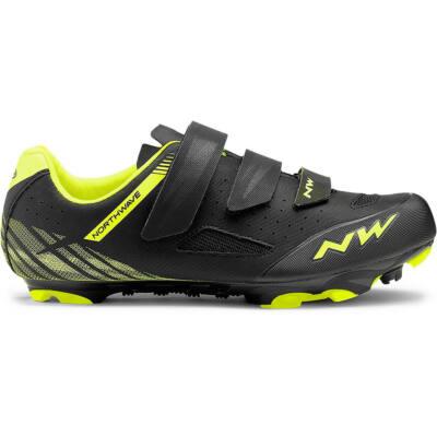Northwave Origin, fekete/sárga fluo kerékpáros cipő