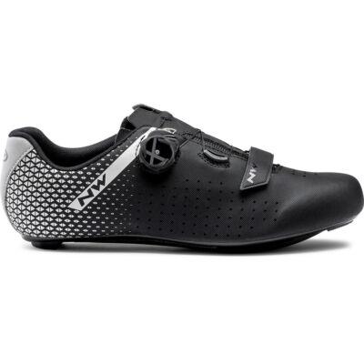 Northwave Core Plus 2, fekete/ezüst kerékpáros cipő