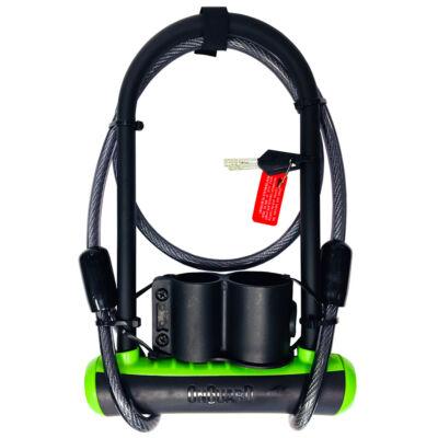 OnGuard Neon 230x115 mm, zöld U-lakat + 120 cm hurokkábel
