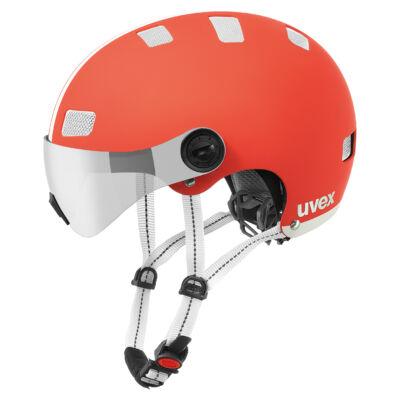 Uvex City v, red-white mat kerékpár sisak
