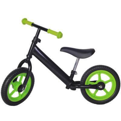 Tanulóbicikli, fekete-zöld 12''