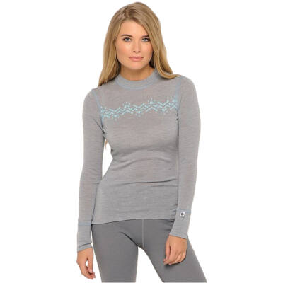 Thermowave Merino Warm Women's Long Sleeve Jersey, grey melange aláöltöző felső