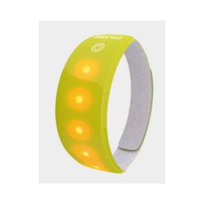 Fényvisszaverő pánt Wowow Lightband LED-es, tépőzáras, sárga