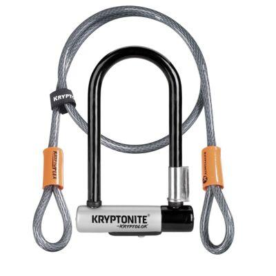 Kryptonite New-U Kryptolok Mini-7 U-lakat + hurokkábel